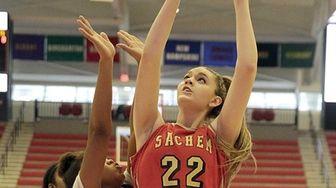 Sachem East forward Danielle Cosgrove (22) shoots over