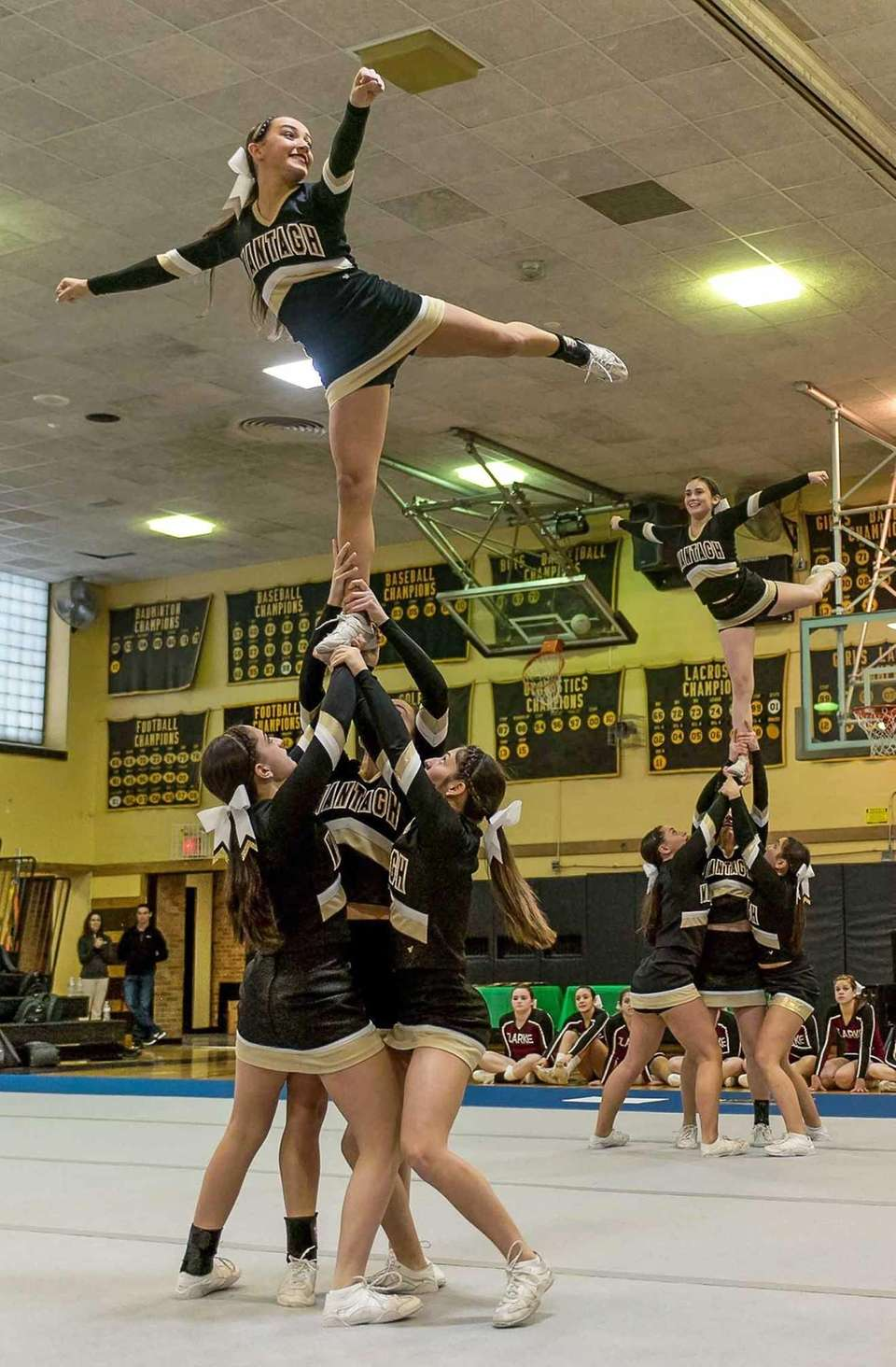 Wantagh performs during the Nassau cheerleading championships at