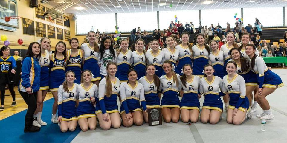 East Meadow poses after taking second place in
