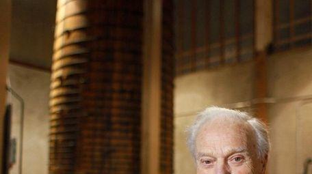 Peter Mondavi Sr. holds a glass of Cabernet