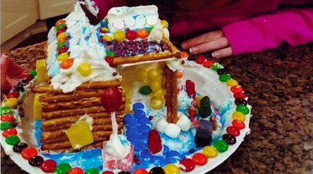 Kidsday reporter Hailey Grieco made a log cabin