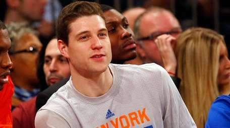 Jimmer Fredette of the New York Knicks looks