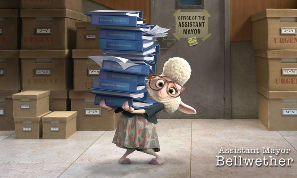 Assistant Mayor Bellwether was inspired by the lambs