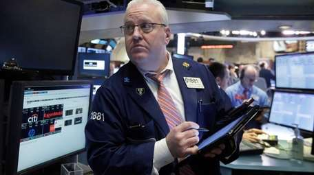 Stocks were dragging early Tuesday, Feb. 23, 2016,
