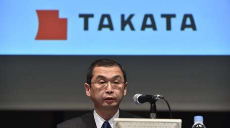 Japanese parts supplier Takata Corp. president Shigehisa Takada