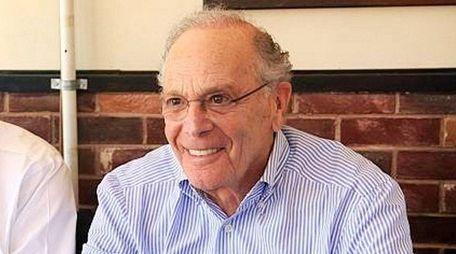 Developer Ed Blumenfeld at a luncheon meeting in