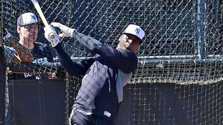 New York Yankees' Didi Gregorious works out