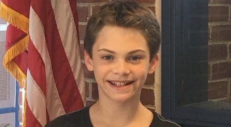 Cole Faller of Roslyn Middle School has organized
