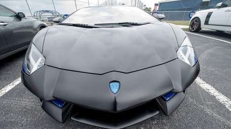 Yoenis Cespedes drove a custom made Lamborghini into