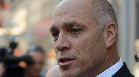 Anthony Simon, LIRR lead negotiator, talks to the