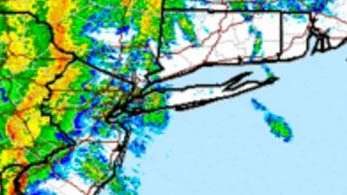 A weather map of Long Island as of