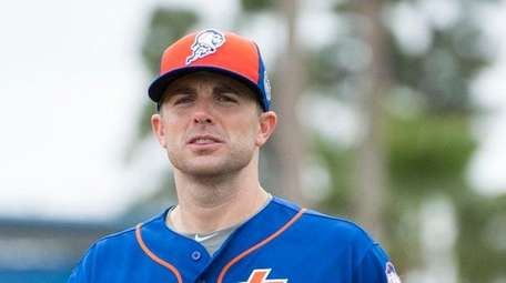 David Wright during a spring training workout, Wednesday