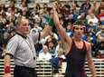 Syosset's Vito Arujau is declared the winner at