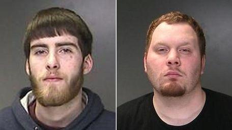 Sean Lynch, 22, of Shirley, left, and Ryan