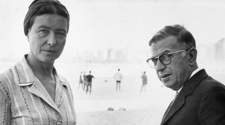 Simone de Beauvoir and Jean-Paul Sartre, one of