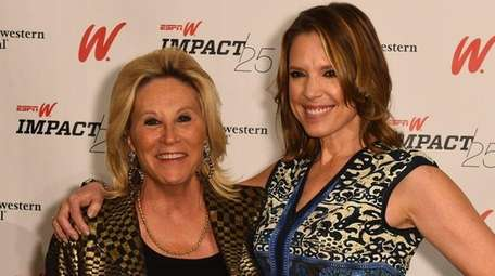 Donna de Varona and Hannah Storm during