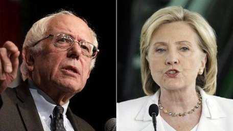 Democratic presidential primary rivals Sen. Bernie Sanders (I-Vt.)