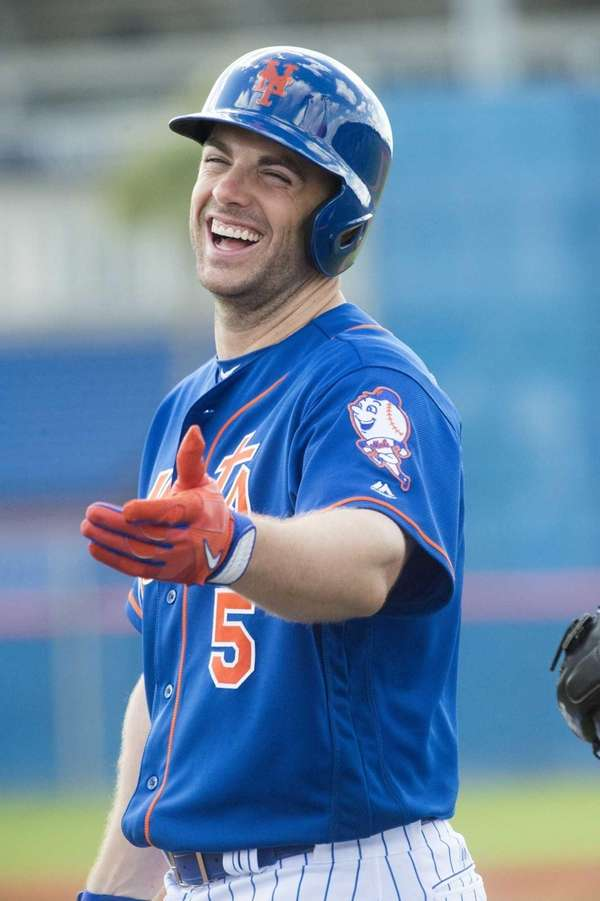The Mets' David Wright looks on during a