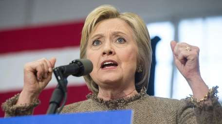 US Democratic presidential candidate Hillary Clinton speaks at