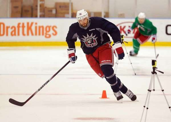 New York Rangers forward Rick Nash skates as
