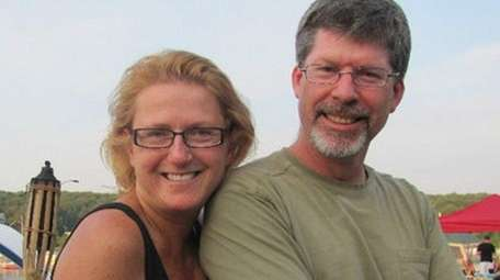 Kristin Divers with her late husband, Michael Divers,