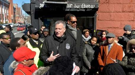 New York City Mayor Bill de Blasio is
