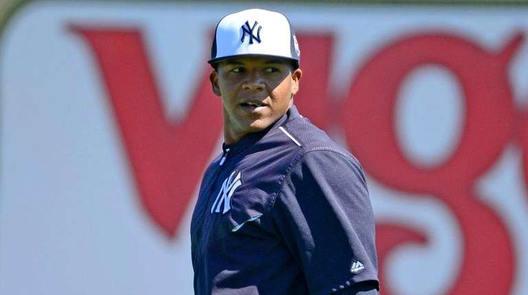 New York Yankees' Cesar Puello during Spring Training