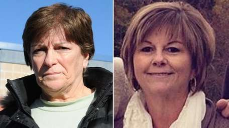 Kathy Horan of Medford, left, is accused of