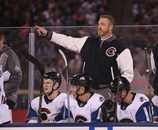 Head coach Patrick Roy of the Colorado Avalanche
