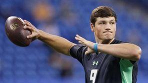 Quarterback Christian Hackenberg of Penn State throws during