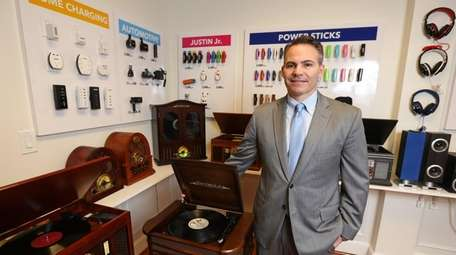 Innovative Technology CEO Corey Lieblein shows some of