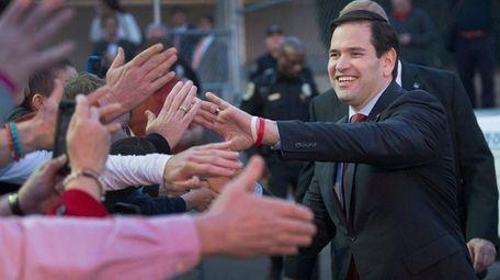 Sen. Marco Rubio (R-Fla.) is seen in Huntsville,
