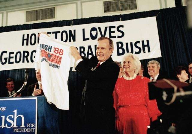 In 1988, Vice President George H.W. Bush won