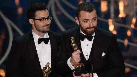 Singer Sam Smith, right, and composer Jimmy Napes