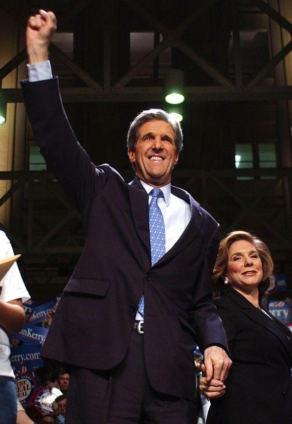 Massachusetts Sen. John Kerry won nine out of