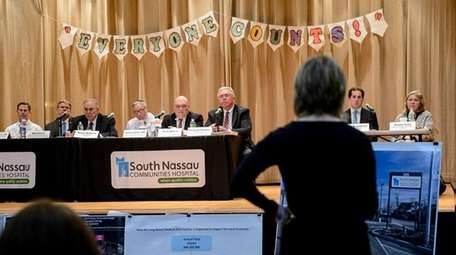 Representatives from South Nassau Communities Hospital, Assemb. Todd