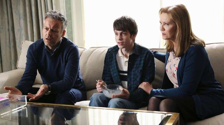 From left, Rupert Graves, Liam James and Joan