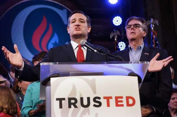 Republican presidential candidate, Sen. Ted Cruz (R-Texas) addresses