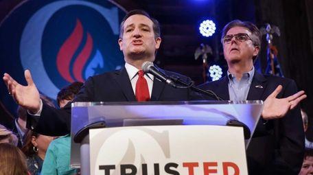 Republican presidential candidate, Sen. Ted Cruz (R-Texas) addresses
