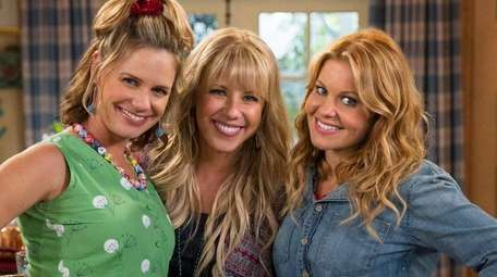Andrea Barber, left, Jodie Sweetin and Candace Cameron