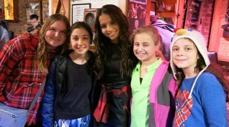 Kidsday reporters, from left, Lauren Berkowitz, Grace Benedict,