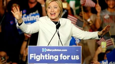 Former Secretary of State Hillary Clinton speaks during