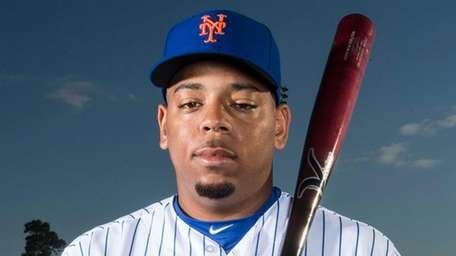 Mets infielder Dominic Smith during photo day, Tuesday