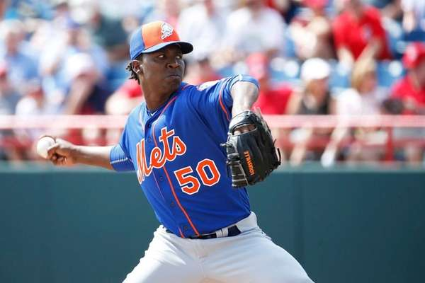 Rafael Montero of the New York Mets pitches