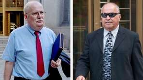 Dr. Peter Lesniewski, left, a defendant in the