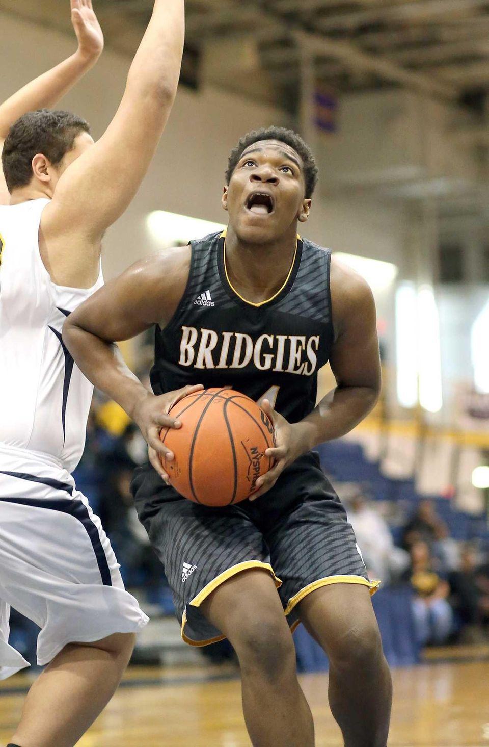 Bridgehampton's Josh Lamison gets the basket during the