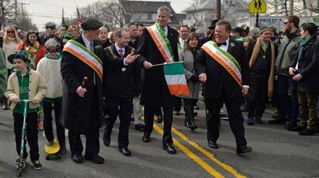 New York City Mayor Bill de Blasio, parade