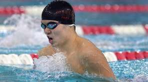 Half Hollow Hiills' Alex Park swims in