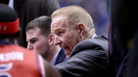 Chris Mullin gives instructions to his St.