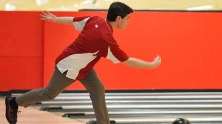 Connor Egan of Chaminade rolls a frame during